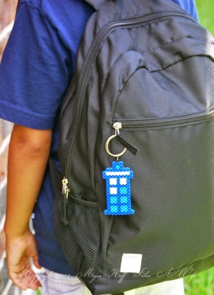 Tardis Doctor Who Beaded Keychain