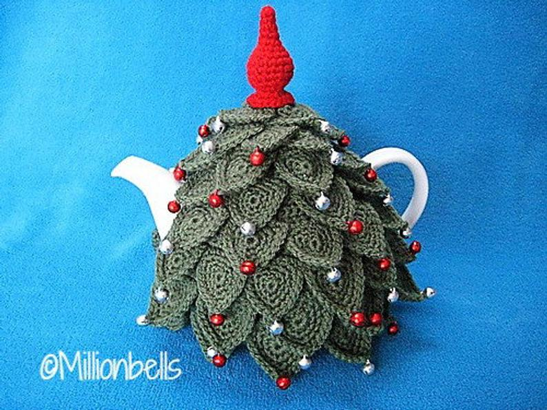 Christmas Tree Teapot Cozy