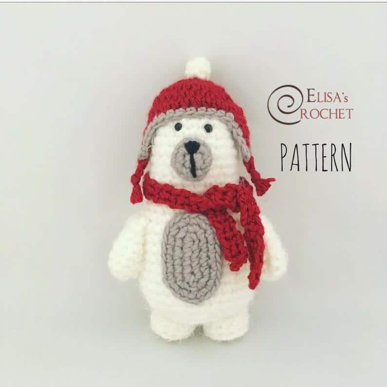 Ted the Polar Bear Crochet Plushie