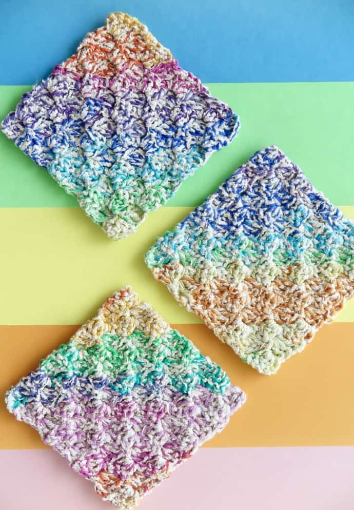 Textured Crochet Pattern Dishcloth