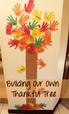 Thankful Activities for Preschoolers Handprint Tree