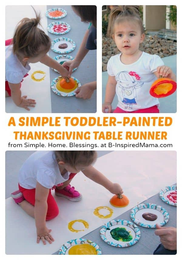 Thanksgiving Crafts for Toddlers Table Runner