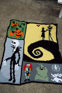 The Nightmare Before Christmas Crochet Afghan