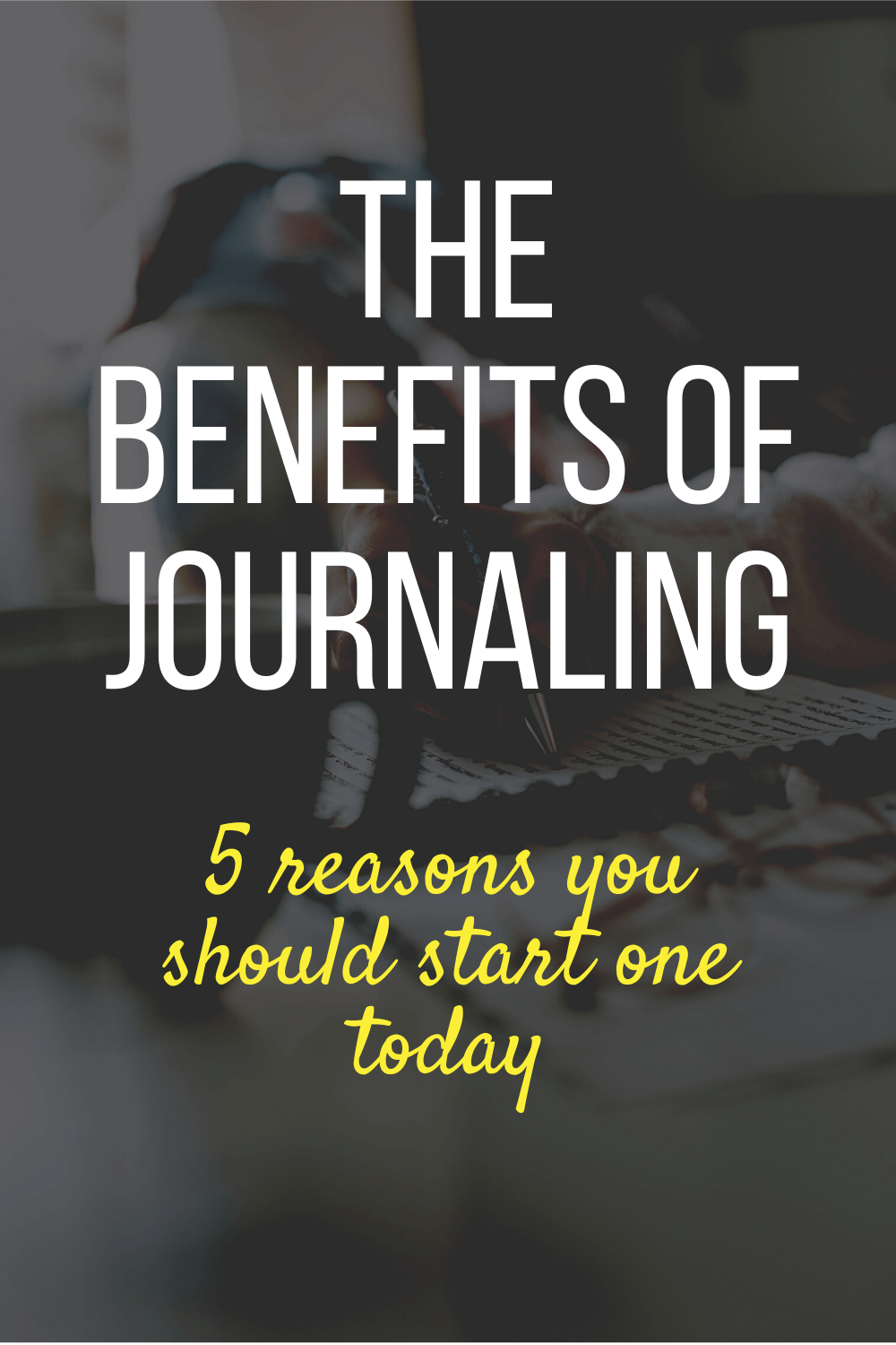 To start a journal all you need is a pen and a notebook, but the benefits of journaling are so much more powerful than the tools we use to keep one!