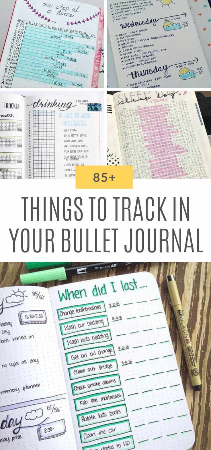 So many genius things to track in your bullet journal !