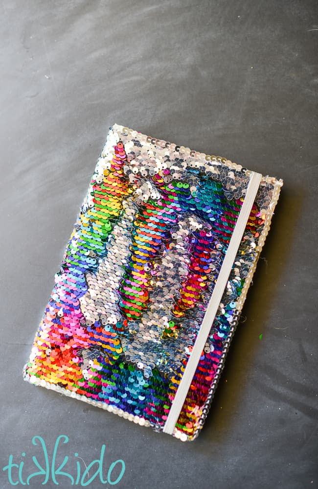 This DIY mermaid sequin notebook makes a wonderful gift for a friend