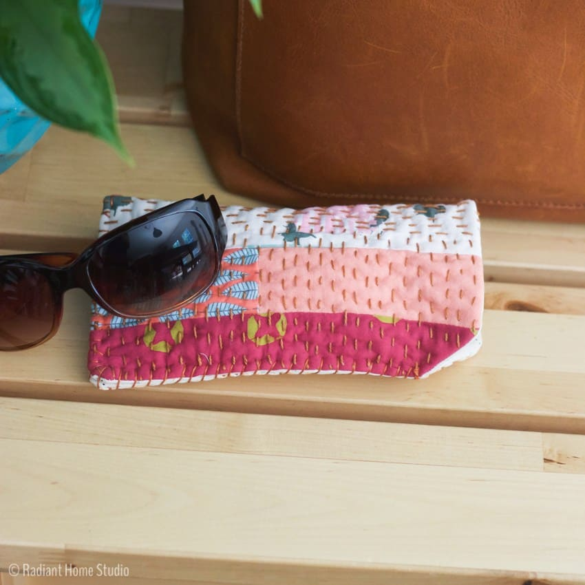 This DIY sunglesses case is an easy gift for a stylish friend
