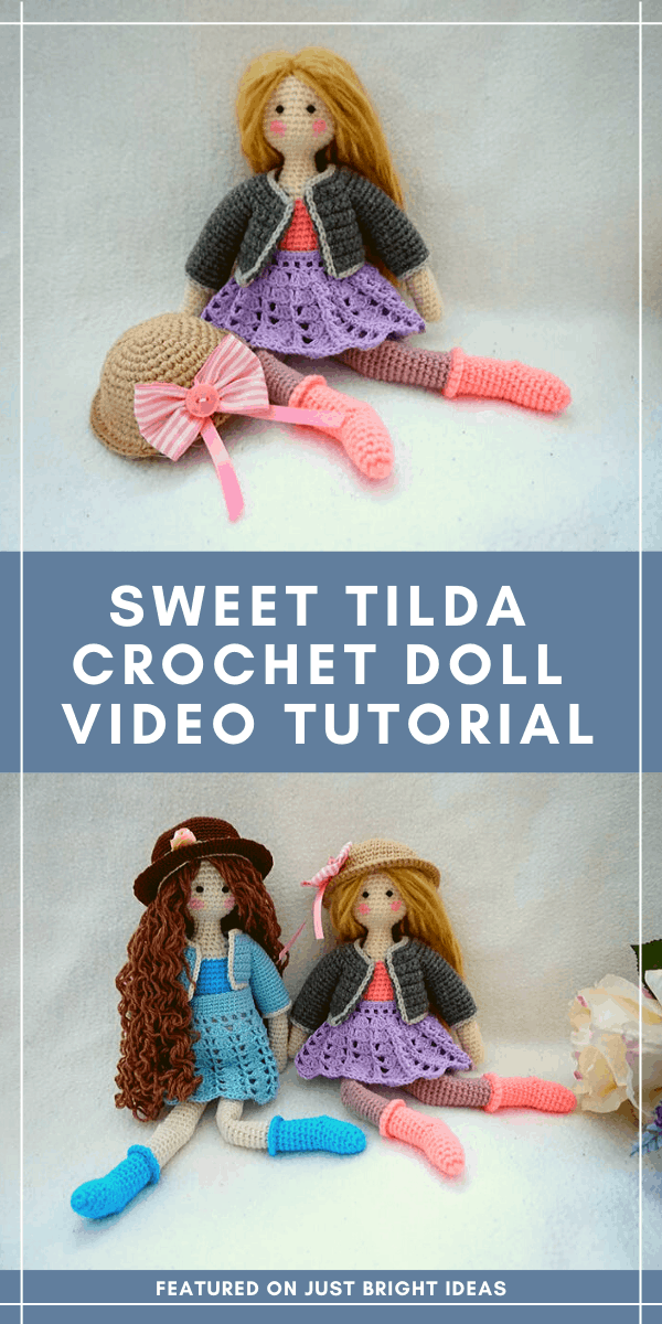 If you're a little nervous to make your first crochet doll you'll love this easy to follow video tutorial that shows you how to make a sweet Tilda doll #crochet