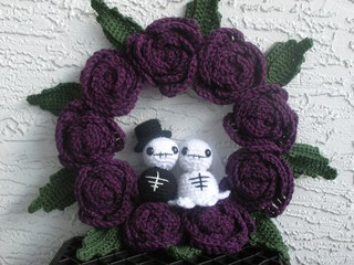 Till Death Do Us Part Halloween Crochet Wreath