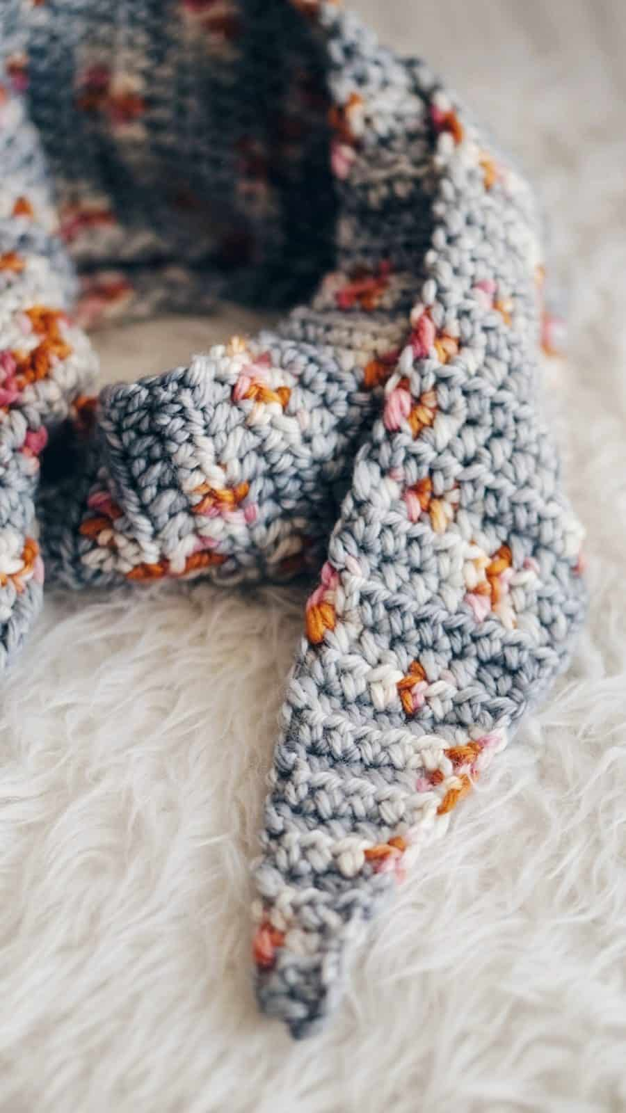 Tipped Crochet Scarf Free Pattern