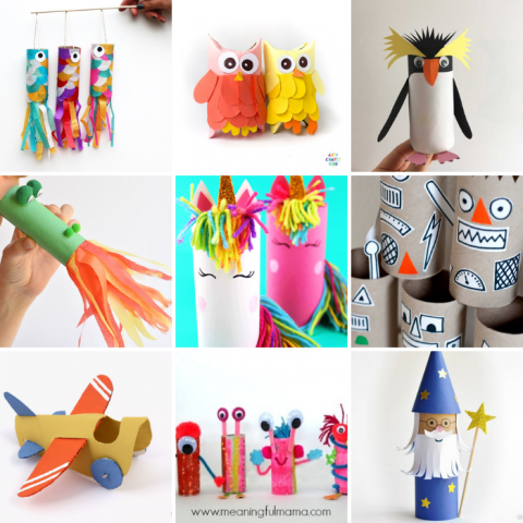 Toilet Tube Crafts for Kids
