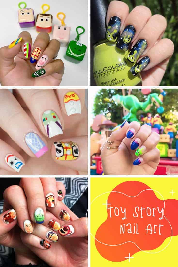Loving these Toy Story nail art ideas! Which is your favorite Toy Story movie? #toystory #disney #pixar #nailart