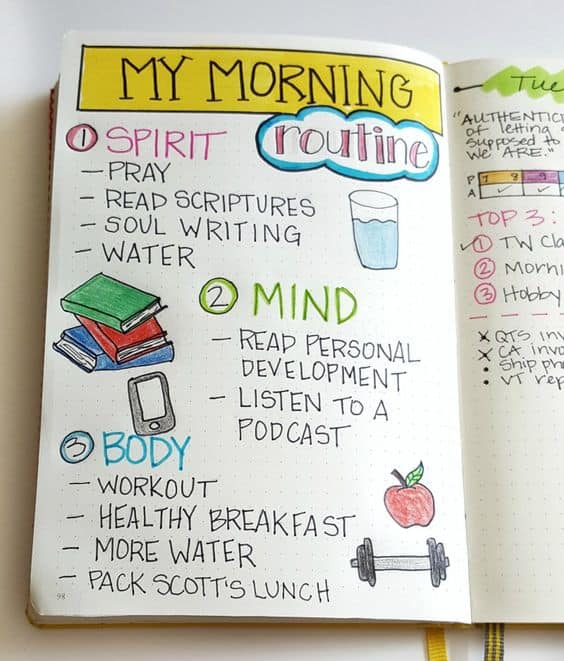 Track your morning routine