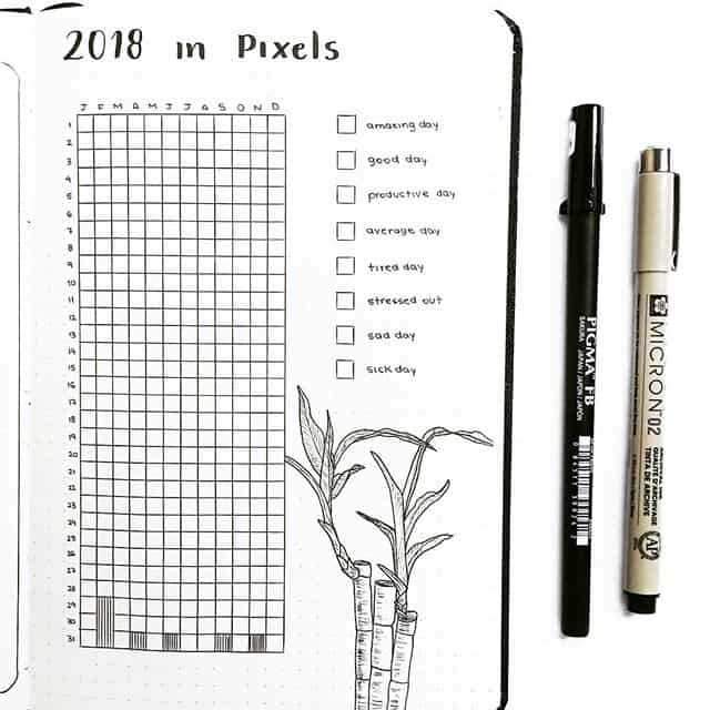 Track your year in pixels