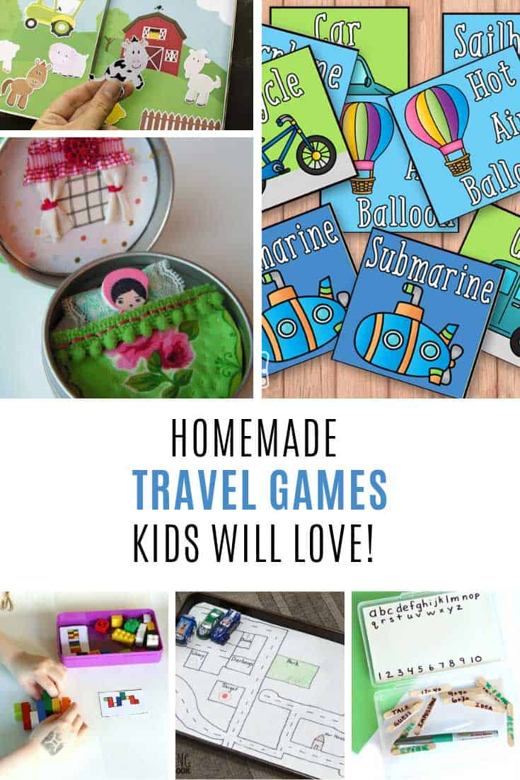 These homemade travel games for kids are super fun!