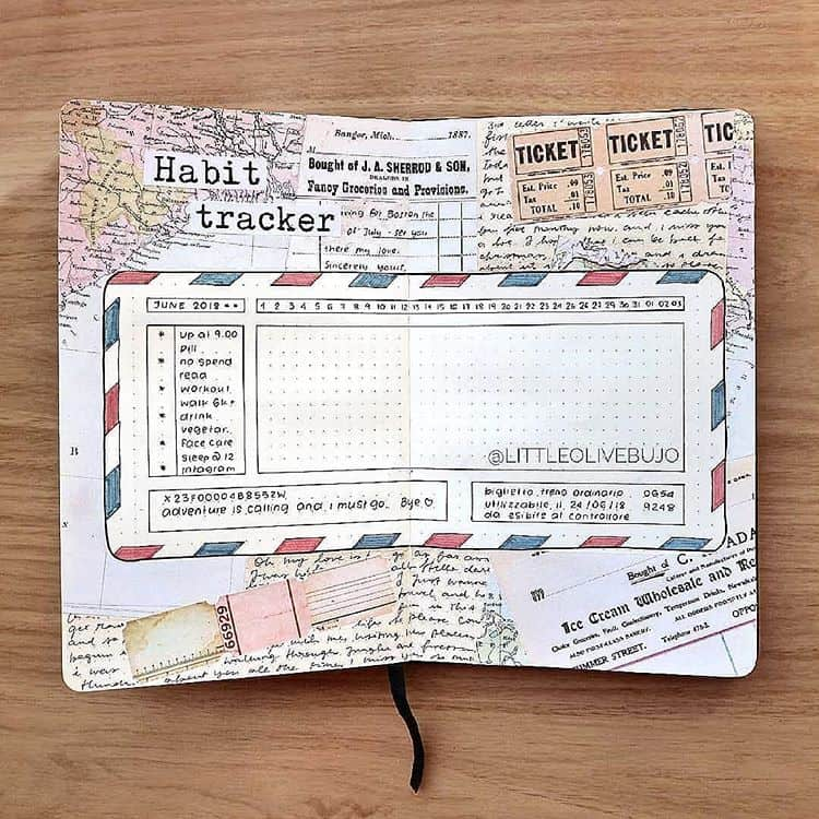 Travel Inspired Habit Tracker