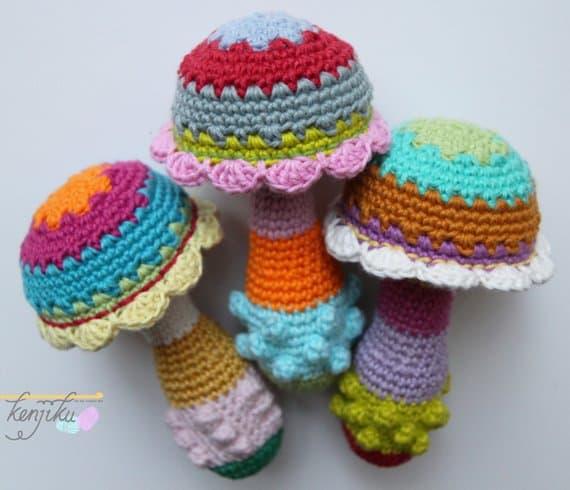 Mushroom Baby Rattle Crochet