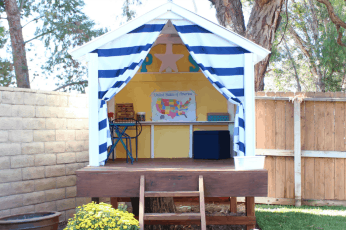 DIY Treehouse Playhouse