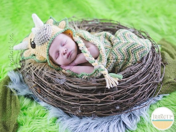 Triceratops Cocoon Crochet Pattern