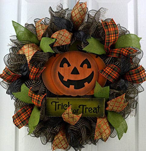 Trick or Treat Deco Mesh Wreath