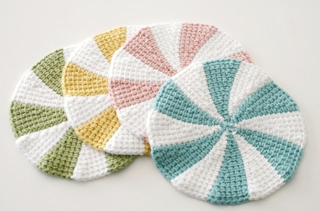 Tunisian Crochet Shaker Dishcloths