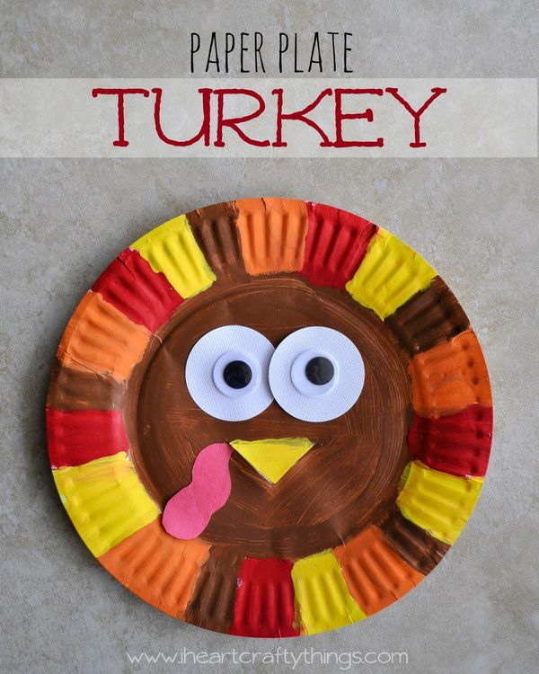 Turkey Activities for Toddlers Paper Plate Craft
