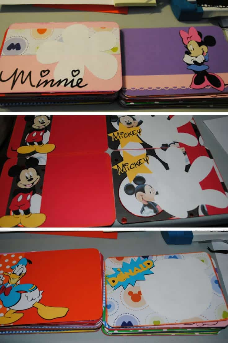 Turn a cereal box into a Disney autograph book