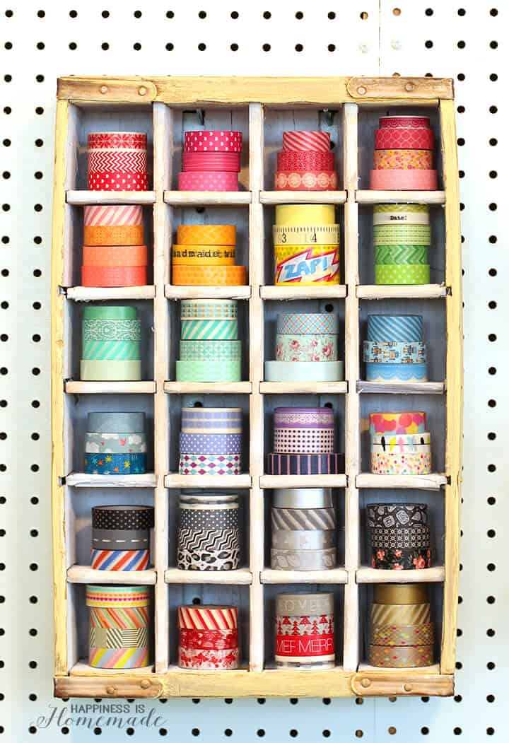 Vintage Soda Crate to Washi Tape Storage