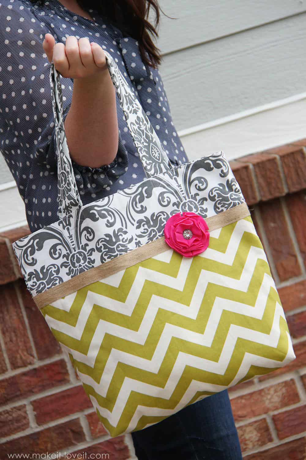 Two Tone Fabric Totes