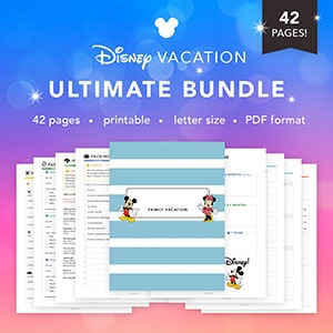 Get the ULTIMATE Disney World Planner Printable here!