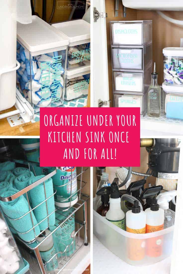 These under the sink storage ideas are totally genius and yes I am drooling over how neat and tidy all these kitchen cabinets are!