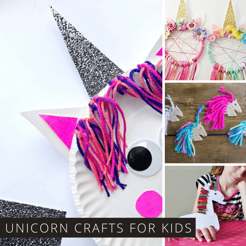 Hands up if you love unicorns! You're in luck because today we've got a whole list of magical unicorn crafts for kids from toddler though to teens. There's even a few that mom will want to make too!