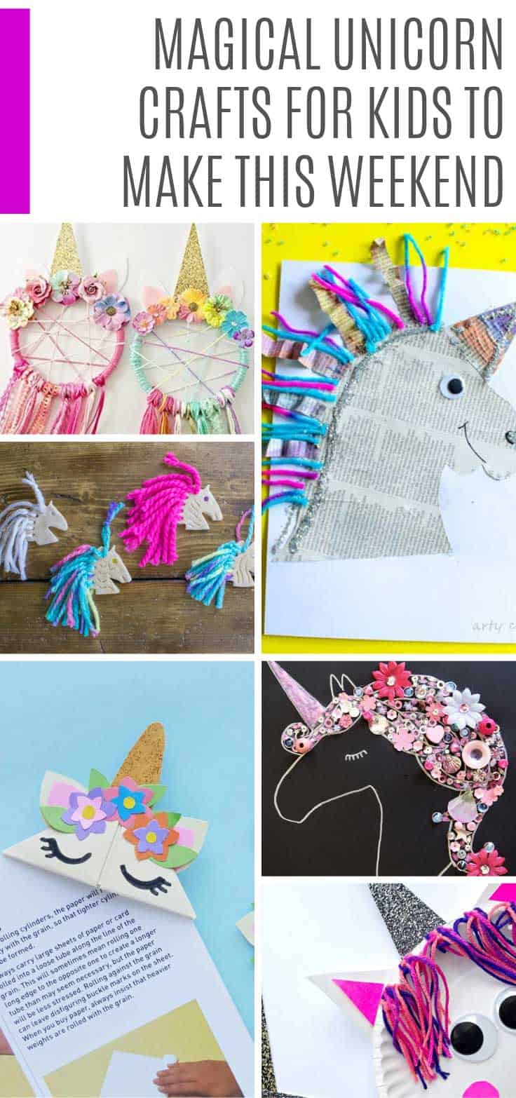 LOVING these unicorn crafts for kids! How cute are those bookmarks! So many fun ideas here for back to school crafts and sleepovers!