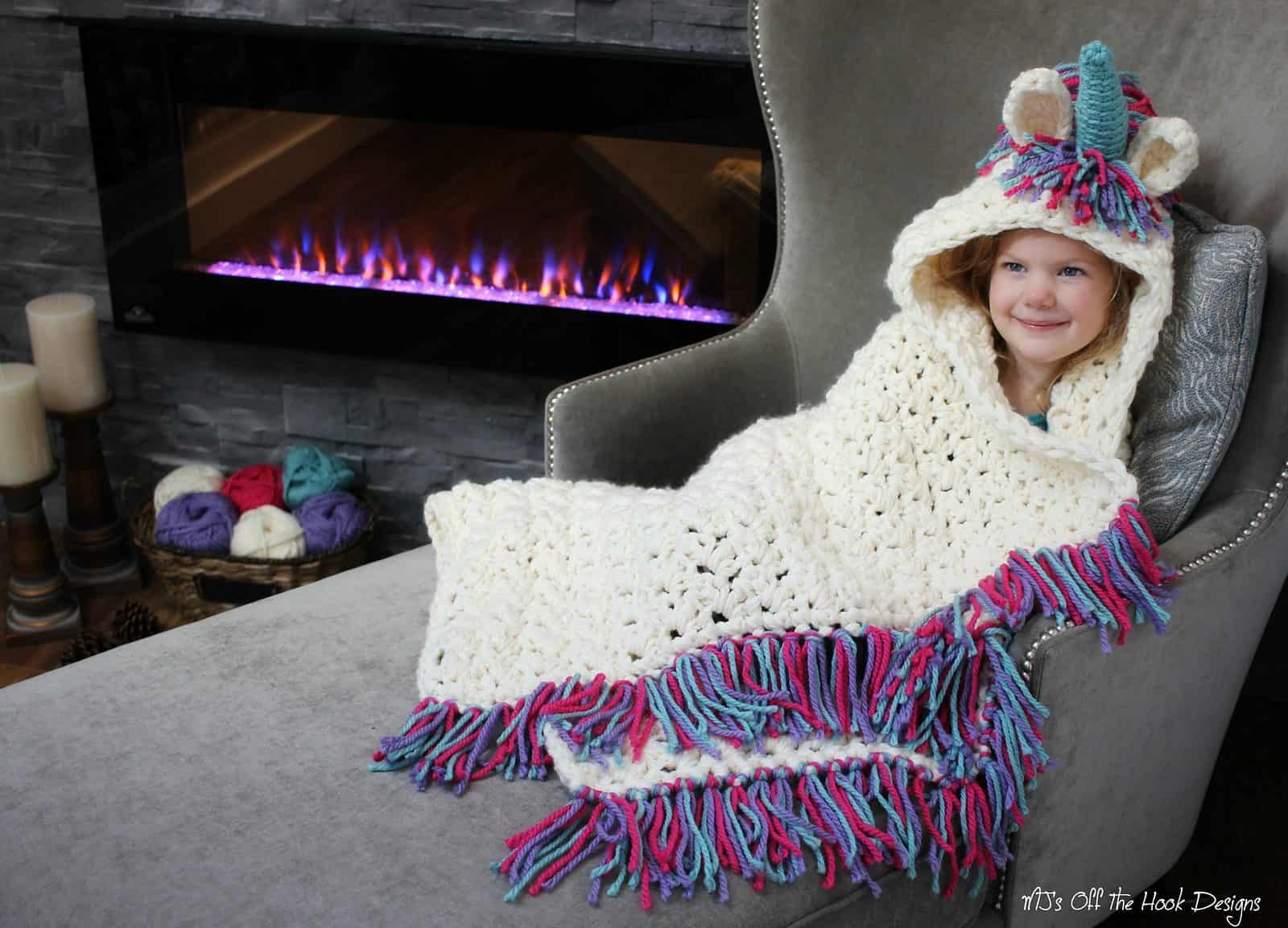 Unicorn Crochet Blanket Pattern