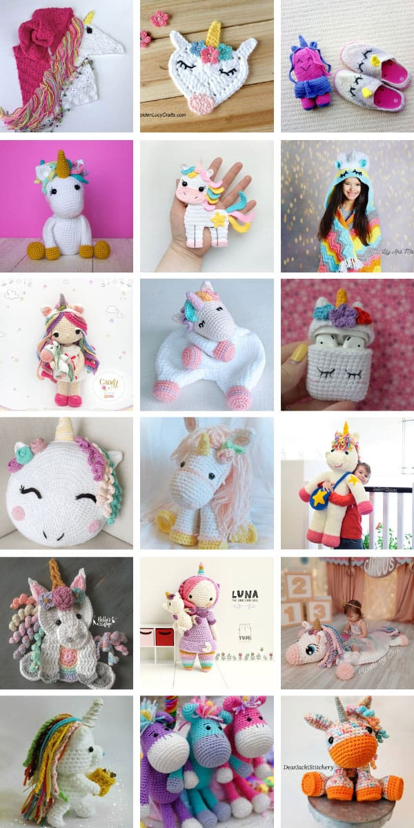 Loving these unicorn crochet patterns - so many ideas from blankets to toys! #crochet #unicorns