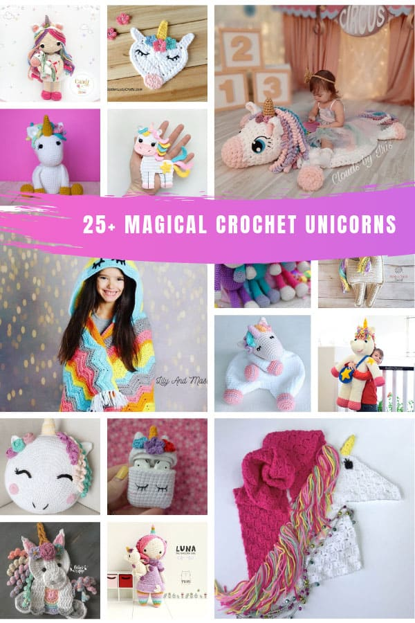 Loving these unicorn crochet patterns - so many blankets and toys to make for Christmas gifts! #crochetpatterns #crochet