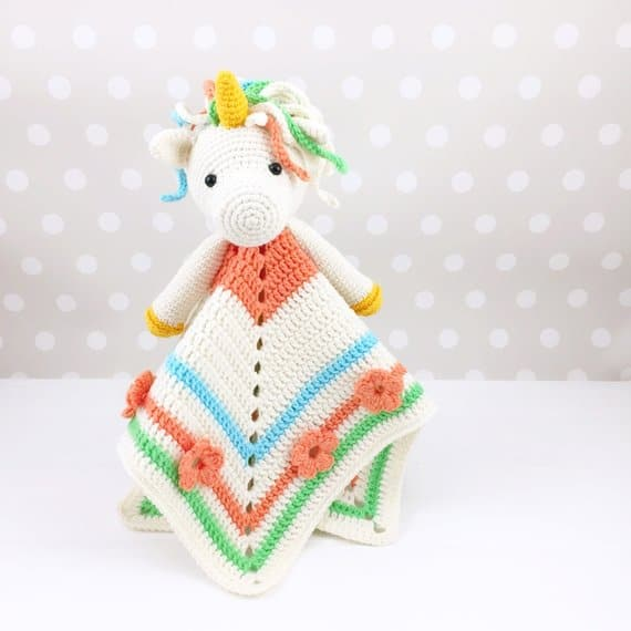 Unicorn Lovey Blanket