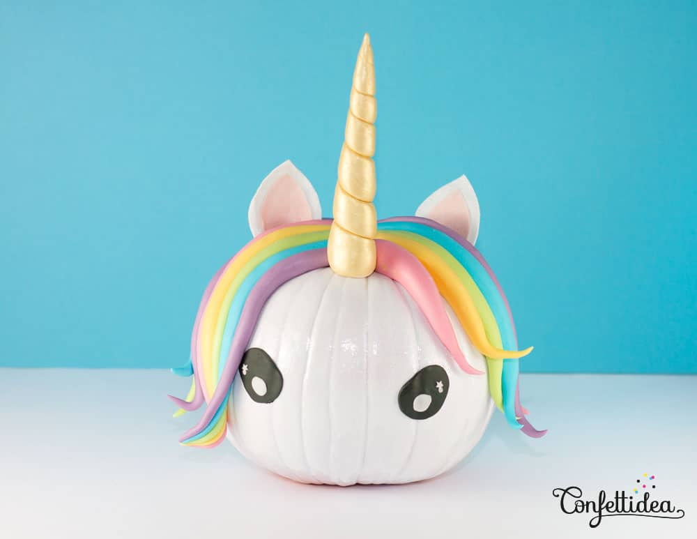 Unicorn Pumpkin Craft Polymer Clay