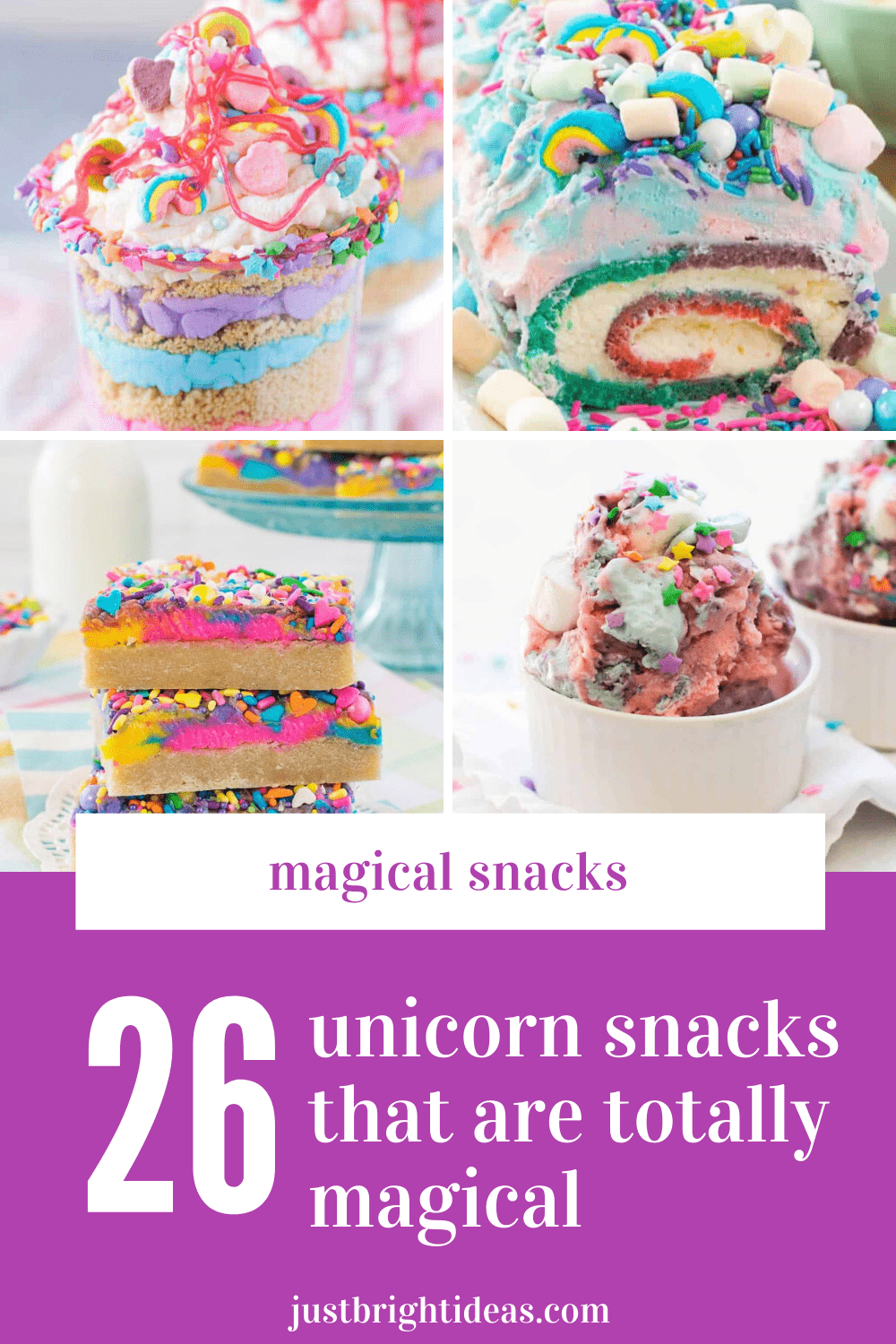 Wow! These unicorn snacks are so magical - perfect for summer snacks and parties!
