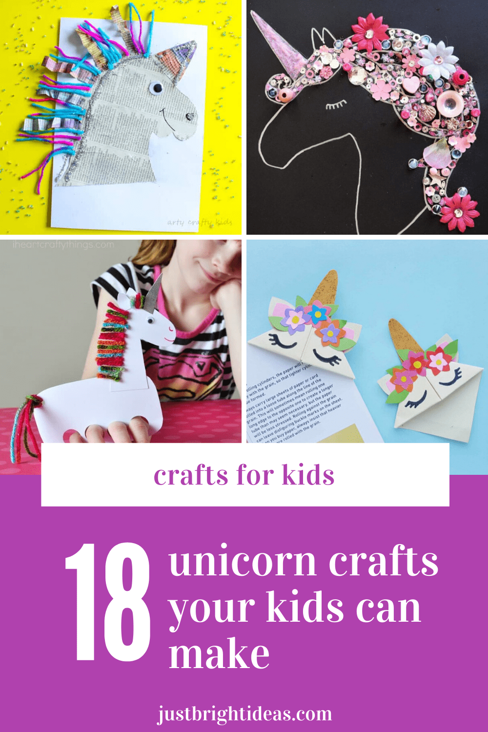 Unicorn alert! These kid's crafts are super fun and super easy to make too - go grab the craft box!