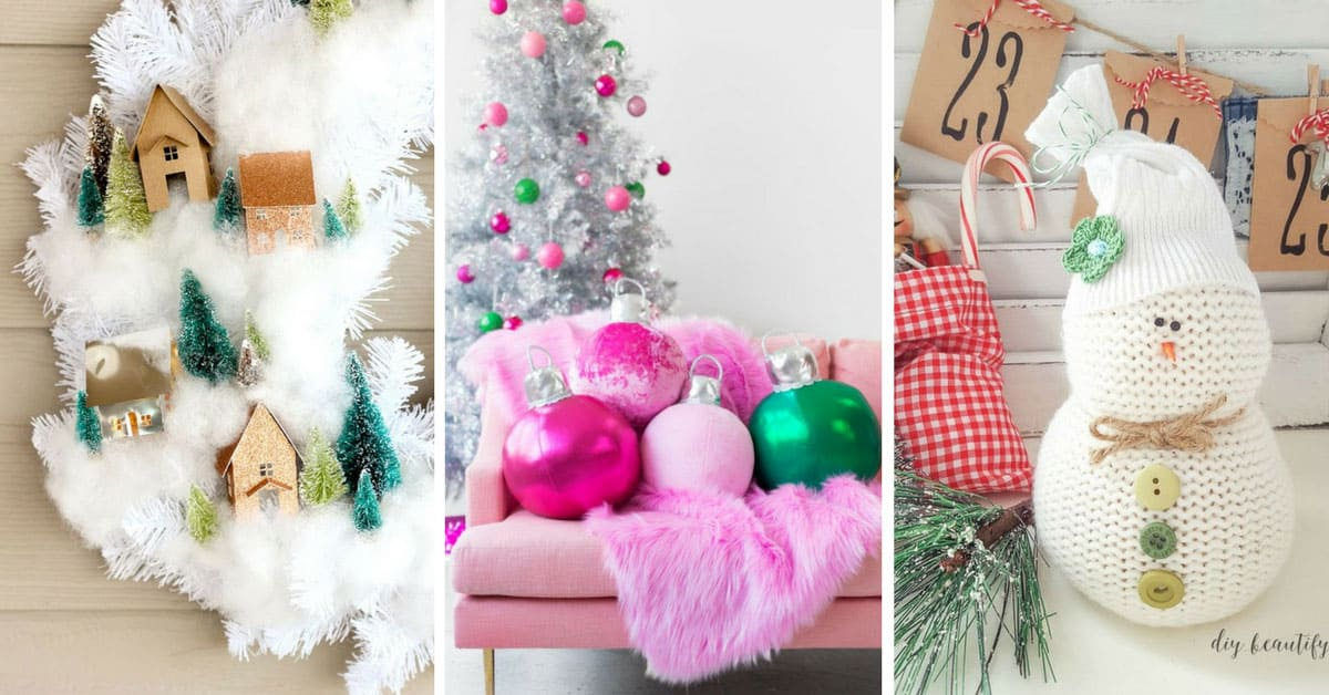 16 totally unusual diy christmas decor ideas that are easier to make than they look