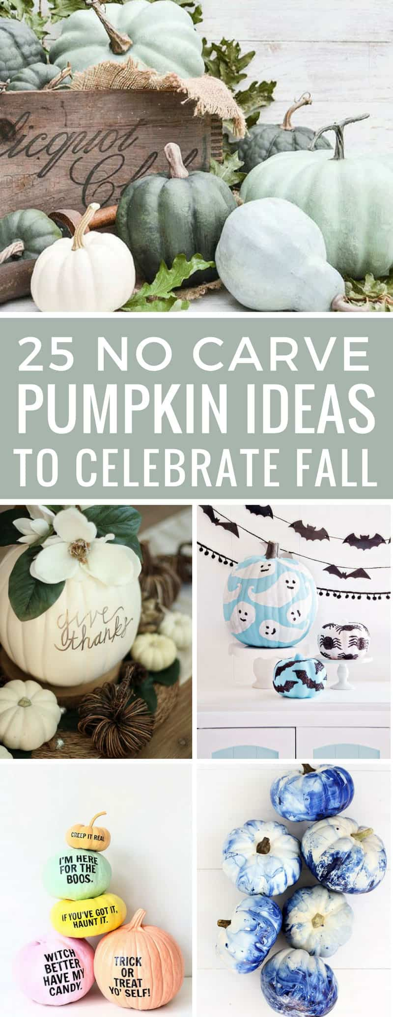 Totally in love with these pumpkin decorating ideas with no carving required! They look stunning as Fall decor! Thanks for sharing!