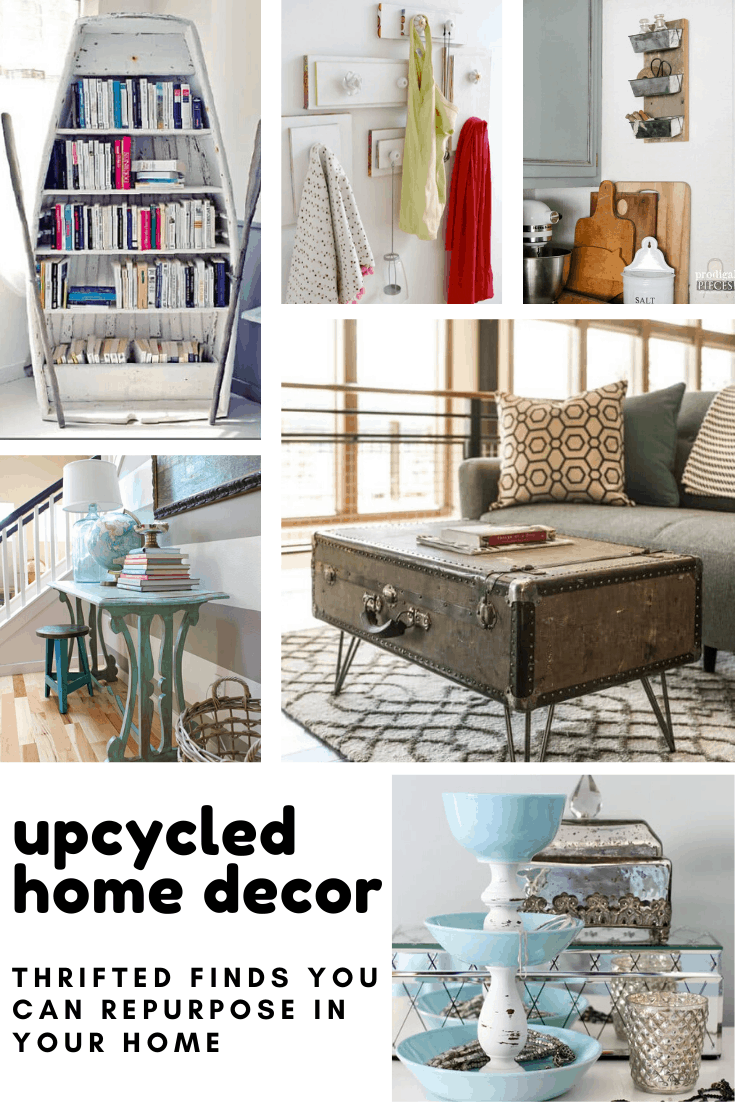 Loving this thrifted home decor inspiration - these upcycled ideas will show you how to keep furniture out of the landfill!