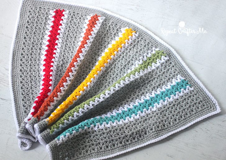 V Stitch Rainbow Baby Blanket