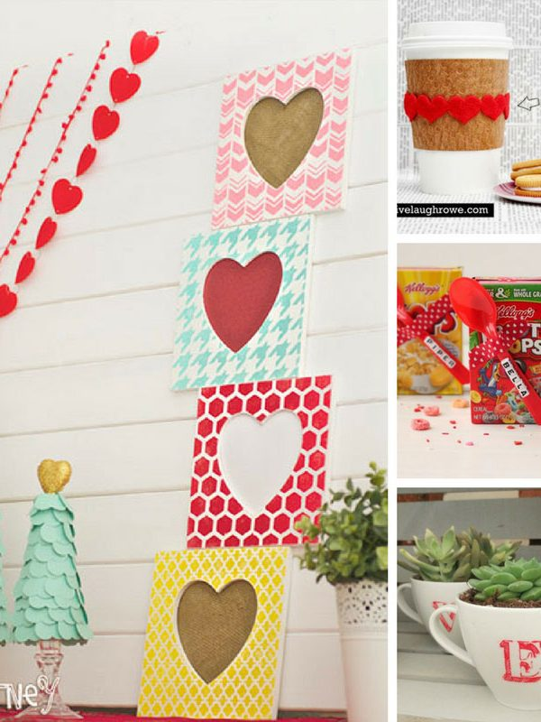Valentine's Crafts for Grownups - Simple crafts to make gifts to show how much you care!