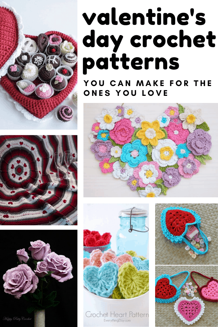 So many sweet Valentine's day crochet patterns I can make for loved ones!