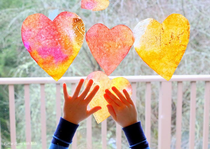 Heart Suncatcher Craft for Toddlers - Fun at Home with Kids