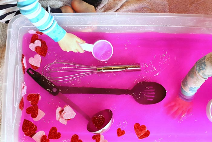 Toddler Sensory Play: Valentine's Day Soup