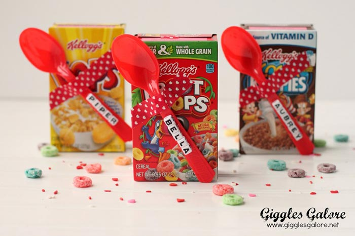 DIY Cereal Valentines - Giggles Galore
