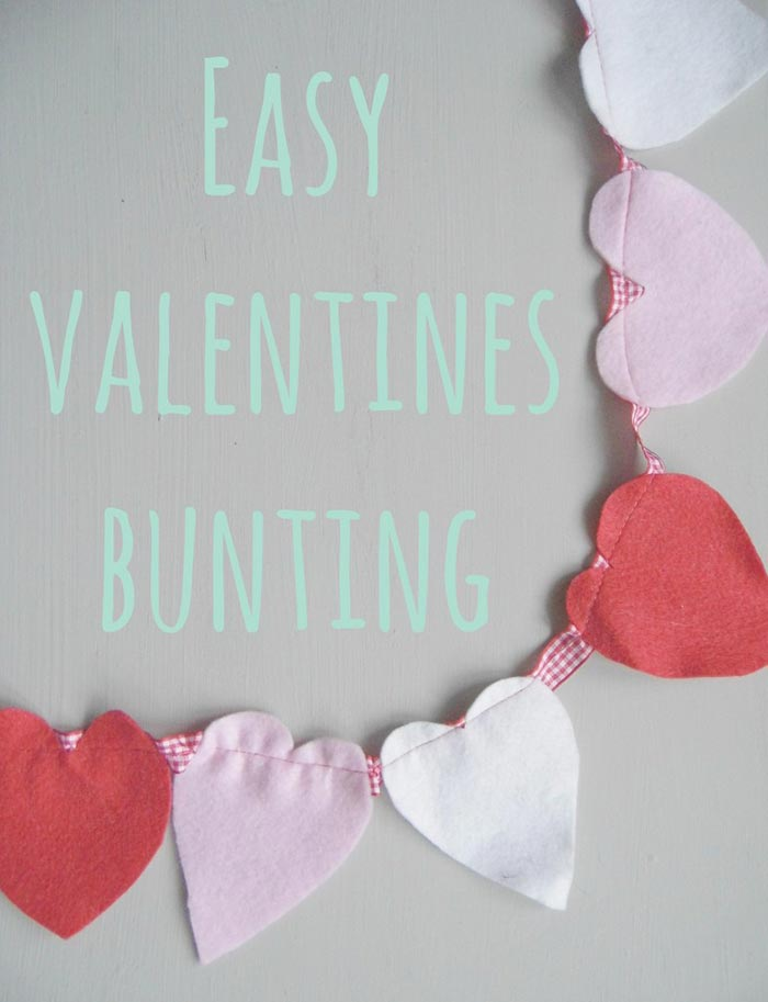 Valentines Bunting - Crafts on Sea